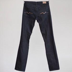 Seven For All Mankind Straight Leg Crystal Pocket